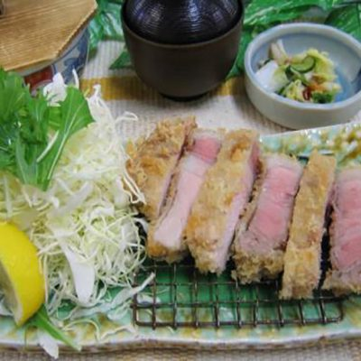 那須そがのや三元豚ロースカツ御膳 ¥1,870(税込)